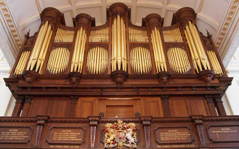 Pipe organ, St. Georges Hanover Square
